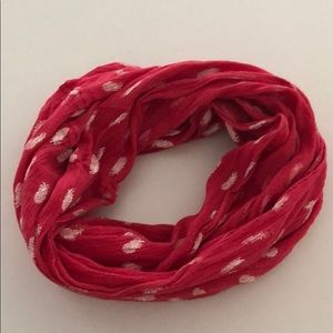 Pink and white pineapple infinity scarf